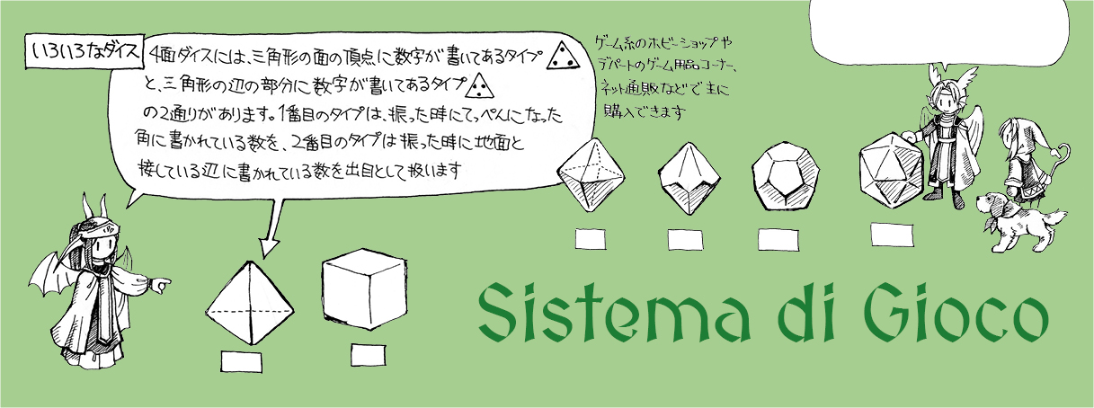 Ryuutama Gioco di Ruolo Natural Fantasy Sistema di gioco